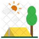 Camping Forest Hobbies Icon