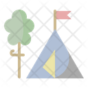 Camping Holiday Tent Icon