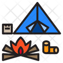 Camping Adventure Travel Icon