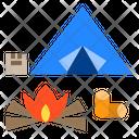 Camping Adventure Travel Icon
