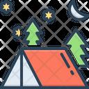 Camping Adventure Leisure Icon