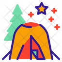 Camping Fire Tent Icon