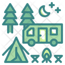 Camping Activity Woods Icon