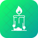 Camping Candle Christmas Icon