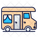 Camping Bus Rv Caravan Icon