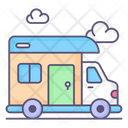 Camping Bus Icon