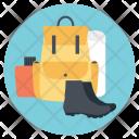 Camping Emblem Icon