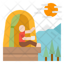 Camping Firecamp Travel Icon