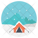 Camping in winter Icon