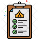 Mcamping Checklist Camping List Traveling List Icon