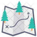 Camping Map Map Location Icon