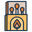 Camping Matches Fire Icon