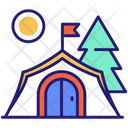 Camping Site Tent Camping Icon