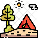 Camping Tent Nature Icon