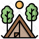 Camping Tent Activities Scenery Icon