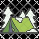Winter Tent Snow Icon
