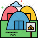 Mcampsite Reservation Camping Tent Icon