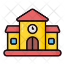 College Lineal Colors Icon Icon
