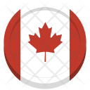 Canada Flag Circle Icon