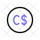 Canadian Dollar Currency Money Icon