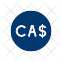Canadian Dollar Payment Investment Icon