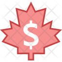 Canadian Dollar Currency Icon