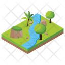 Canal Cityscape Water Irrigation Icon