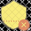 Cancel Shield Icon