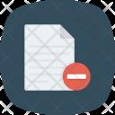Cancel Delete File Icon