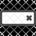 Cancel Delete Form Icon
