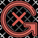 Cancel Rotate Rotation Icon
