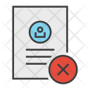 Cancel Reject Document Icon