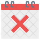 Cancel Calendar Time And Date Icon