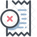 Cancel Bill Icon