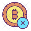Cancel Bitcoin Icon