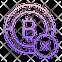 Cancel Bitcoin Icon