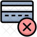 Cancel Card Reject Card Atm Card Icon