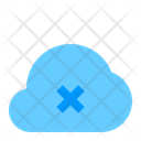 Cancel Cloud Network Icon