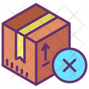Remove Package Cancel Package Cancel Courier Icon