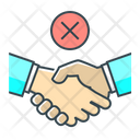 Cancel Deal Cancel Agreement Forbidden Icon