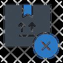 Cancel Delivery Parcel Icon