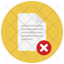 Cancel document Icon