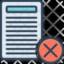 Cancel Document Icon