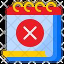 Cancel Event Delete Date Icon