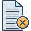 Cancel Agreement Cancellation Icon