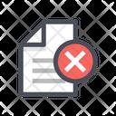 Cancel File Delete File Remove File Icon