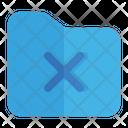 Cancel Folder Remove Icon