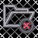 Delete Folder Cancel Icon