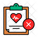 Cancel Medical Report Icon