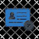 Id Card Remove Icon
